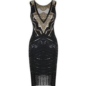 Flapper Dress Sequin Beaded Cocktail Gatsby Dress
